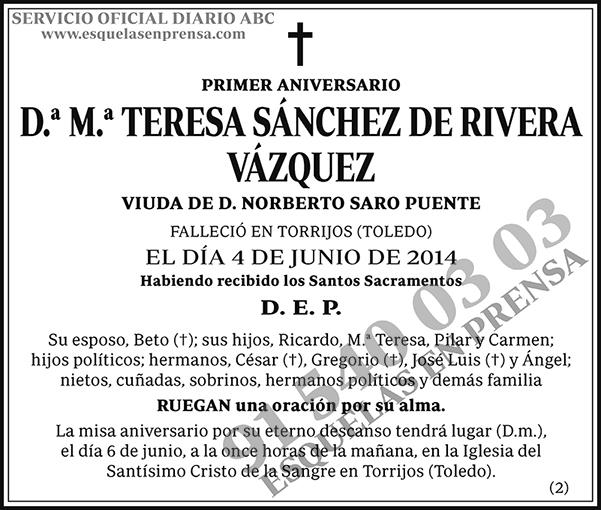 M.ª Teresa Sánchez de Rivera Vázquez